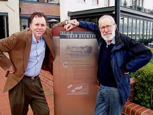 Barry Marshall y Robin Warren en el Royal Perth Hospital