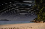 The small island in the Great Barrief reef is a great place to capture startrails.